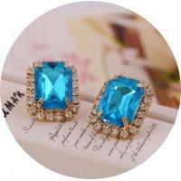 E826 - Chain rhinestone earrings