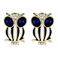 E834 - Crystal owl Earrings