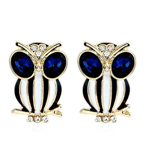 E834 - Crystal owl Earrings