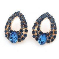 E838 - Diamond drip sapphire Earrings