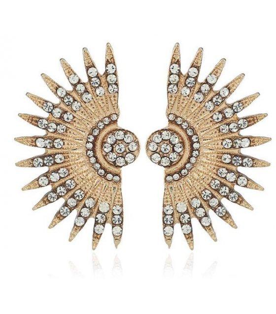 E850 - Alloy fan earrings
