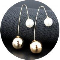 E854 - Double-sided Pearl Earrings