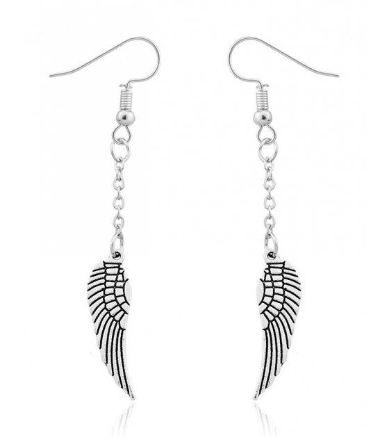 E856 - Angel Wings Pendant Earrings