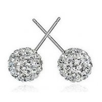E857 - Korean cute ball round earrings