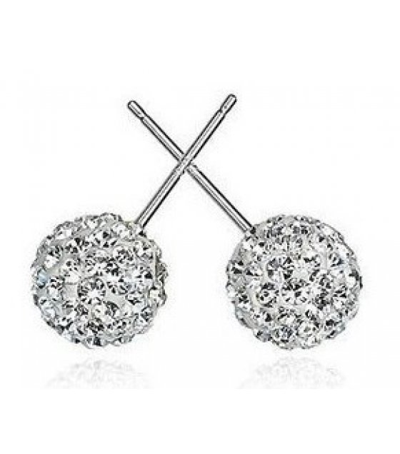 E857 - Korean cute ball round earrings