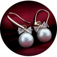 E870 - Pearl Zircon Earrings