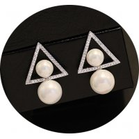 E873 - Double-sided pearl Earrings