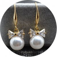 E888 - Flash diamond bow Earrings