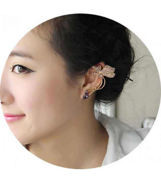 E889 - Butterfly ear pierced ear clip
