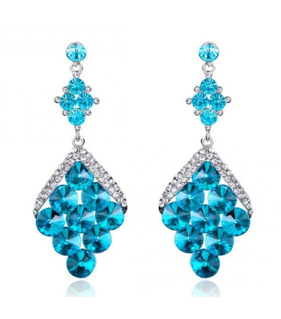 E895 - Blue pendant earrings