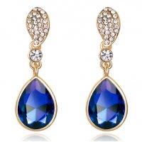 E896 - Drop crystal earrings