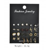 E905 - Rhinestone Geometric Earrings