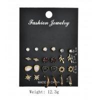 E905 - Rhinestone Geometric Earrings