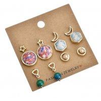 E907 - Geometry gemstone earrings