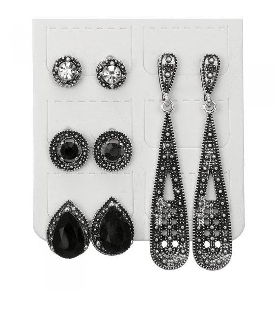 E909 - Bohemian black diamond Earrings