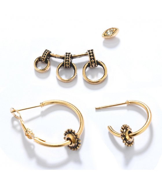 E910 - Bicycle round earrings