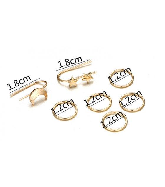 E911 - Five-pointed star ear clip earrings