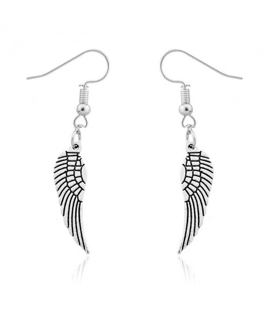 E916 - Angel Wings Pendant Earrings