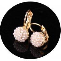E919 - Pearl millet beads earrings