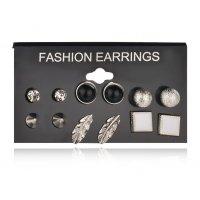 E924 - Korean pearl set earrings