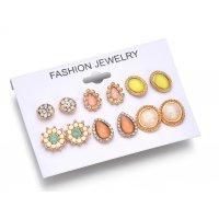 E925 - Set gemstone earrings