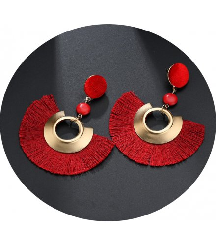 E937 - Fan-shaped tassel Earrings