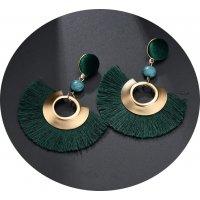 E938 - Fan-shaped tassel Earrings