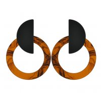 E952 - Ring acrylic earrings