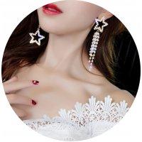 E962 - Star tassel long earrings