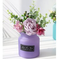 FW001 - European glass vase dried flower arrangement home decoration