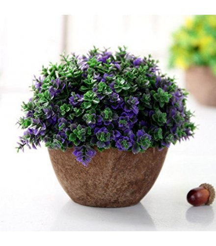 FW005 - Green Plant Potted Bonsai Artificial Flower Pot