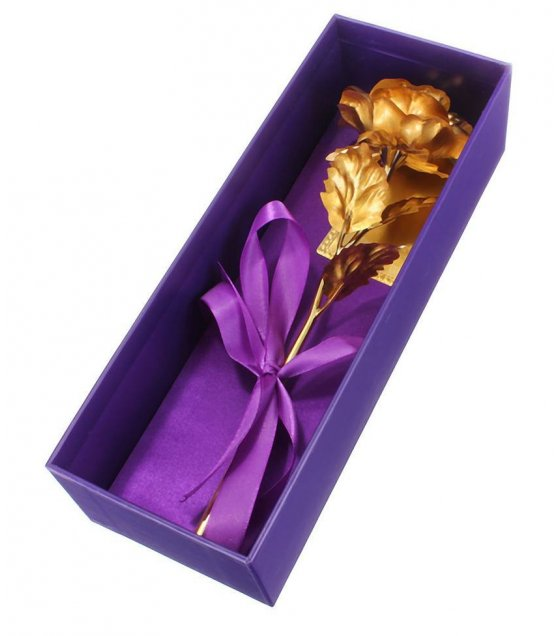 GC001 - 24K Rose gold foil Flower Box