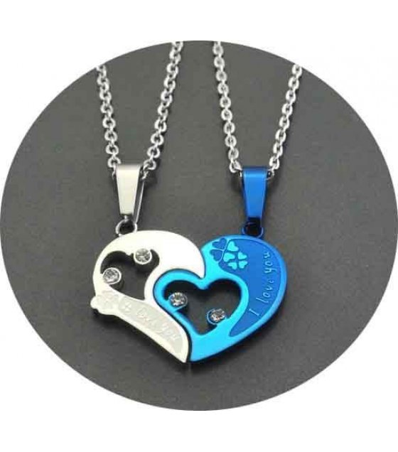 GC018 - Blue Heart Pendant Lovers