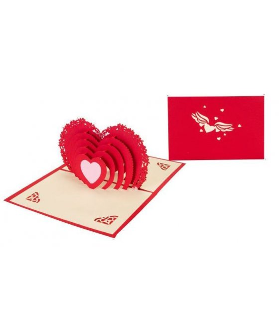 GC024 - 3D Love Heart Greeting Card