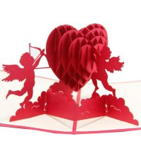 GC025 - 3D Cupid Lovers Card