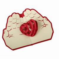 GC029 - 3D Heart Palms Design Card