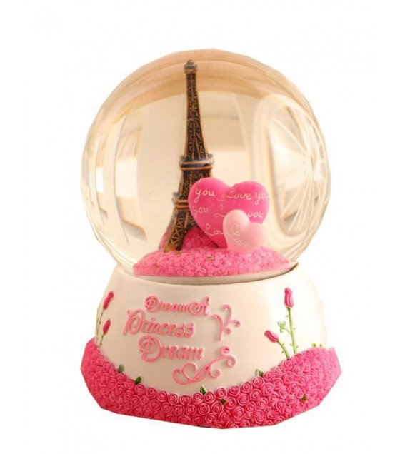 GC047 - Lovers Eiffel Tower Snow Globe Gift