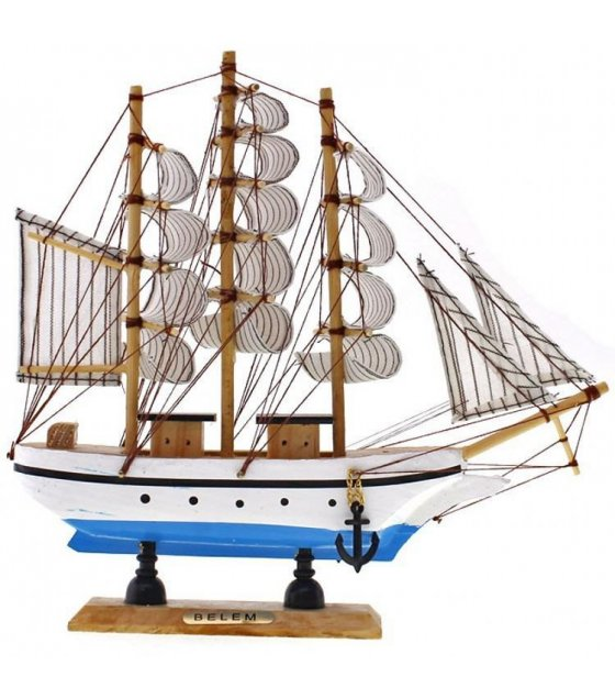 GC055 - Beautiful mini small wooden sailboat model