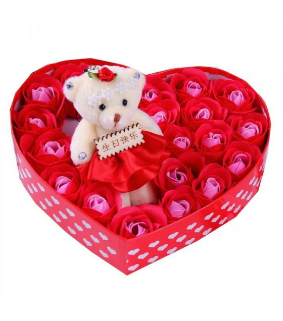 GC166 - Teddy Heart Box