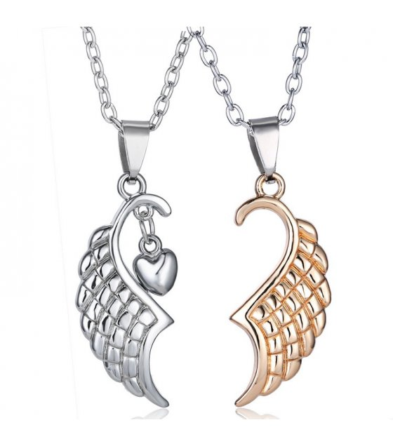 GC186 - Angel wings Couple necklace