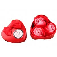 GC193 - Heart Tin Box 3 Duo Loaded Soap Flower