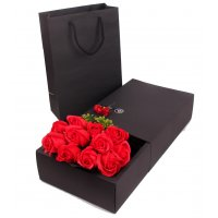 GC194 - 11 Roses Soap Bouquet Gift Box - RED