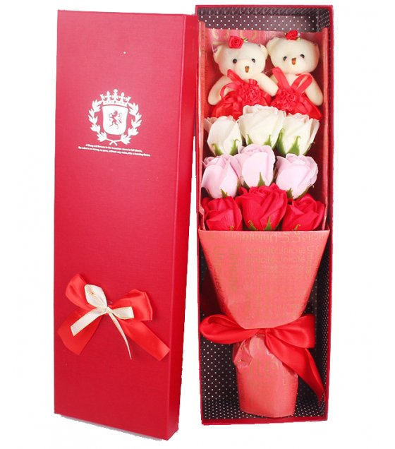 GC198 - FLOWER SOAP BOUQUET GIFT BOX