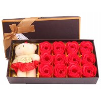 GC199 - Lover Gift Rose Soaps 18pcs Flowers