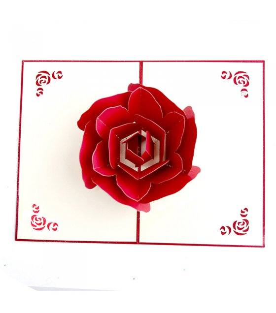 GC203 - Rose Valentine Gift 3D Pop Up Greeting Card