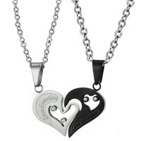 GC209 - Steel His and Hers Couple Necklace