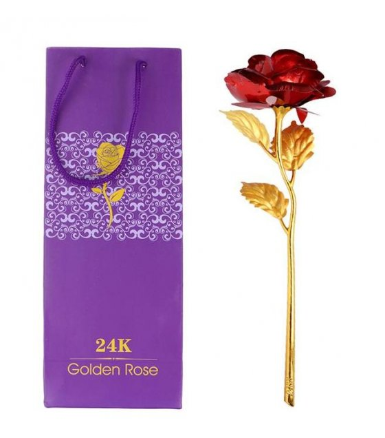GC213 - 24K Rose gold foil Flower Box