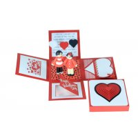 GCH053 - Popup 3D Valentines Gift Card Box