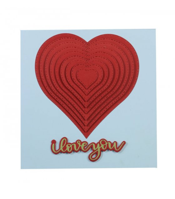 GCH054 - Embossed Heart Valentines Gift Card