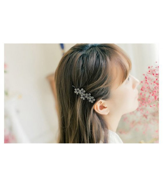 HA020 - Silver Floral Hair Pin
